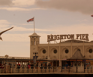 brighton, flags, and pier image
