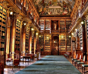 library, books, and czech republic image