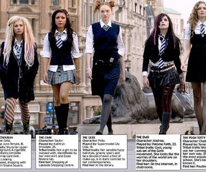 st trinians, geek, and posh totty image