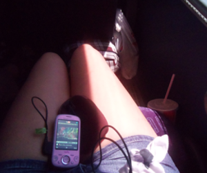 cell, girl, and movil image