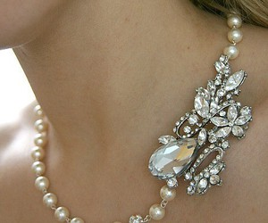 antique, diamond, and necklace image
