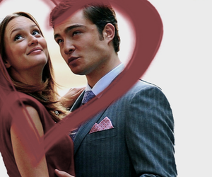 chuck and blair and gossip girl image