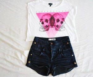fashion, skull, and outfit image
