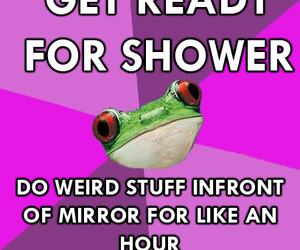 frog, shower, and weird image