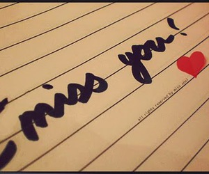 i miss you, heart, and miss you image