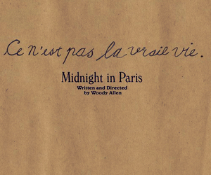 midnight in paris, paris, and woody allen image
