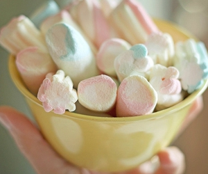 marshmallow, pastel, and sweet image