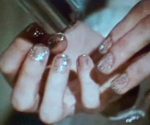 Ziggy Stardust and glittery nails image