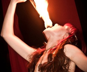 fire eating image