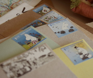 stamp, letters, and post image