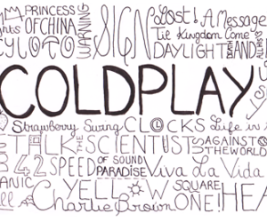 black and white, text, and coldplay image