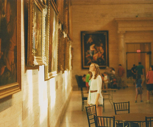 girl, museum, and photography image