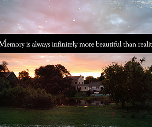 memories, reality, and text image