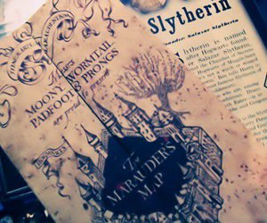 harry potter, hp, and slytherin image