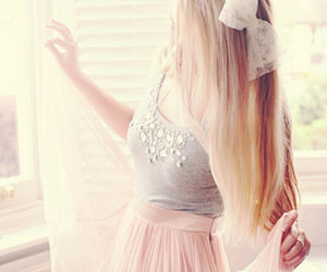 girl, blonde, and bow image