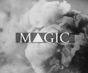 magic, black and white, and smoke image