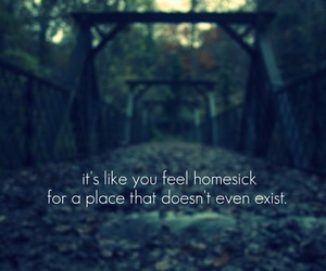 homesick, quote, and exist image