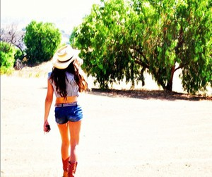 boots, Cowgirl, and crop top image