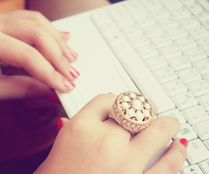 fashion, laptop, and ring image