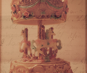 merry go round and vintage image
