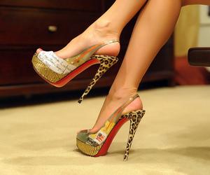 feet, high heels, and skinny image