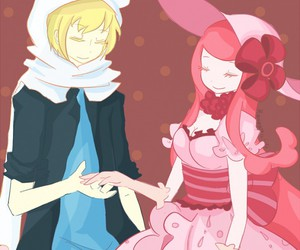 finn, adventure time, and princess bubblegum image
