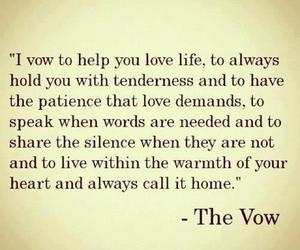 love, the vow, and quote image