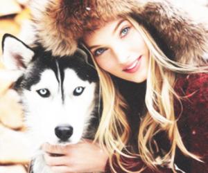 elsa hosk, girl, and dog image
