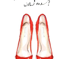shoes, dance, and red image