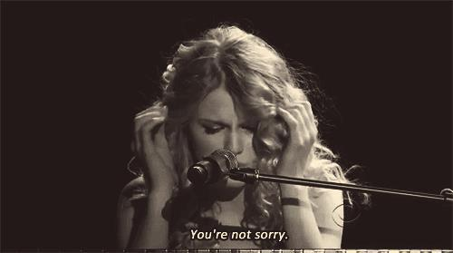 Taylor Swift, sorry, and text image