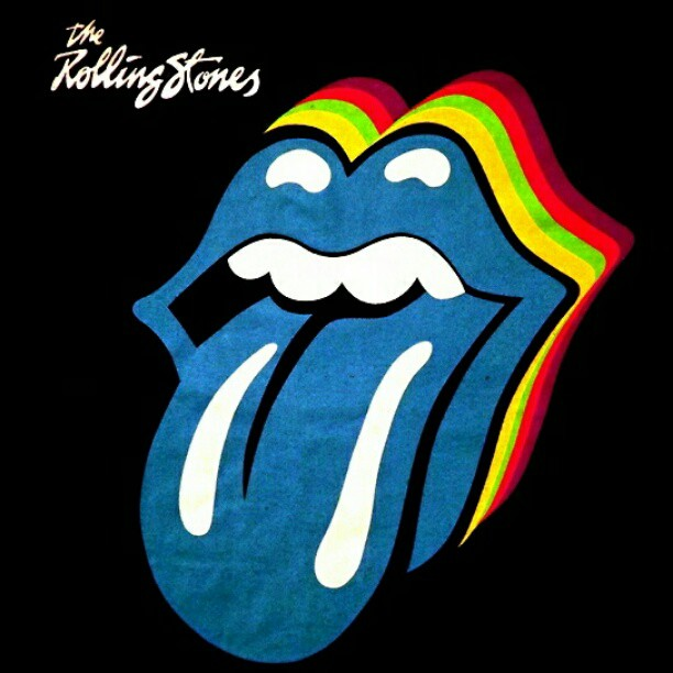rolling stones, music, and blue image