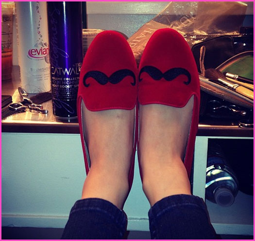 mustache, red, and shoes image