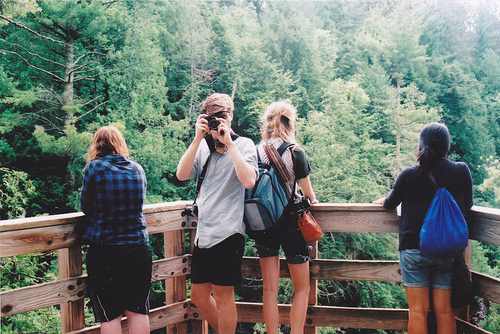 girl, boy, and friends image