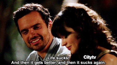 new girl, life, and quotes image