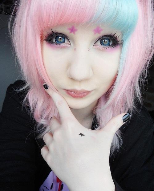 kawaii, pastel hair, and pastel goth image