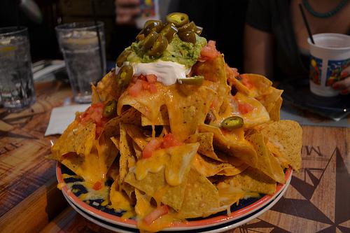 food, nachos, and delicious image