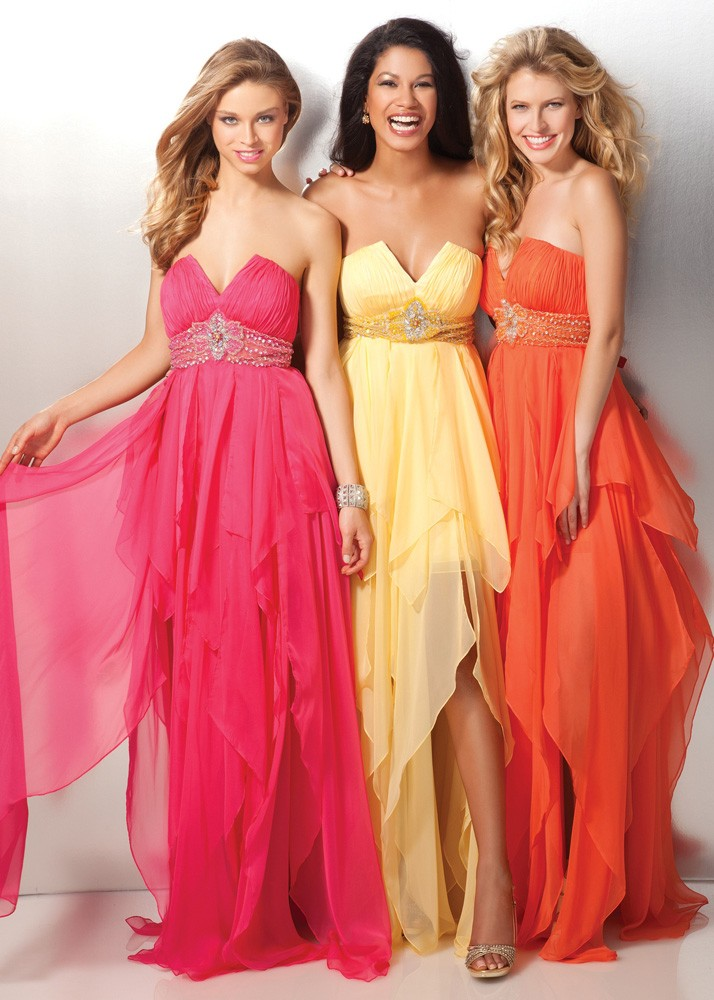 dress, gown, and orange image