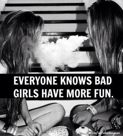 girl, smoke, and fun image