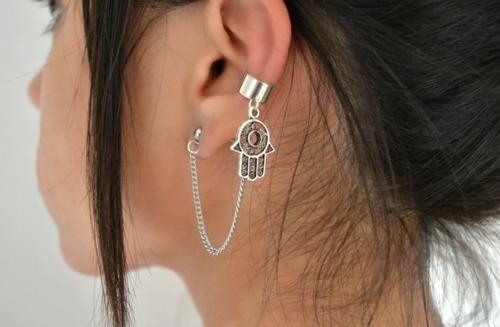 girl, earrings, and ear image