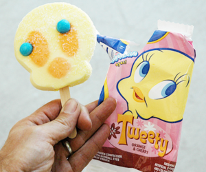 food, ice cream, and Tweety image