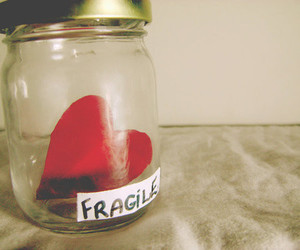 heart, fragile, and jar image