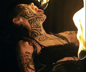 circus, fire, and fire eating image