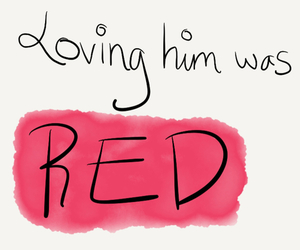 red, Taylor Swift, and quote image