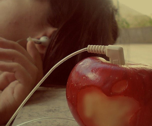 apple, awsome, and girl image