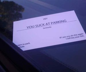 funny, parking, and haha image