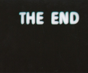 the end, end, and text image