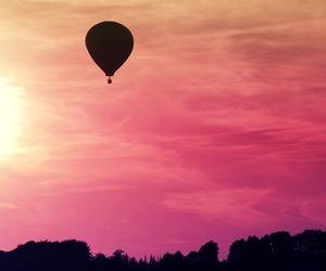 sky, pink, and balloon image