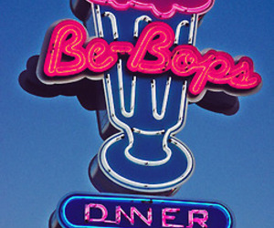 diner, light, and neon image