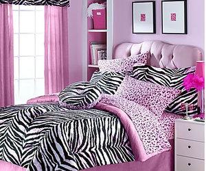 animal print, bed, and girly image