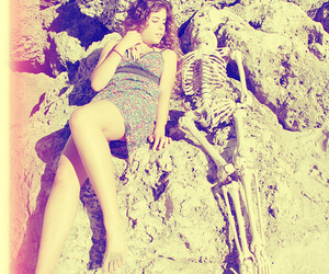 beach, couple, and dead image